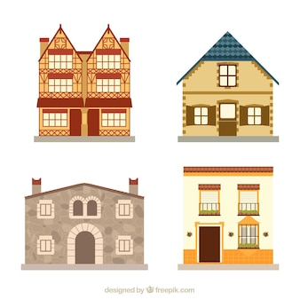 Vier verschillende huizen