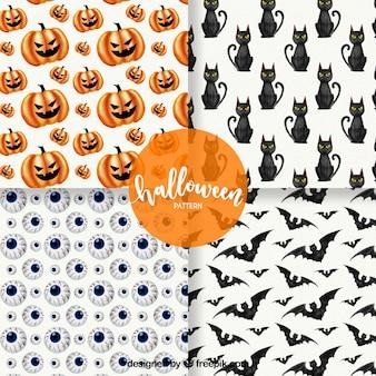 Vier verschillende patronen voor halloween