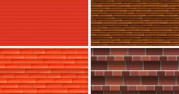 Vier verschillende textuurachtergronden