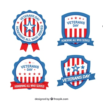 Vier veteranen dag labels