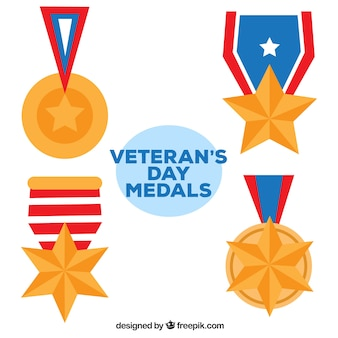 Vier veteranen dag medailles