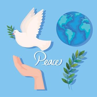 Vier vredespictogrammen