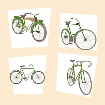 Vier wielersportpictogrammen