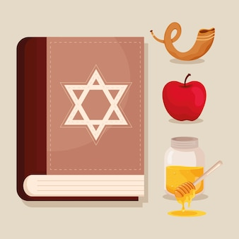 Vier yom kippur-pictogrammen