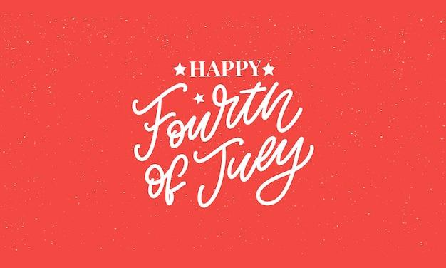 Vierde 4 juli stijlvolle amerikaanse onafhankelijkheidsdag