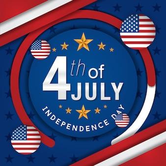 Vierde juli amerikaanse onafhankelijkheidsdag