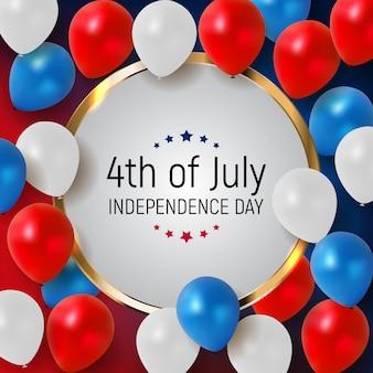 Vierde juli, de onafhankelijkheidsdag van de verenigde staten.