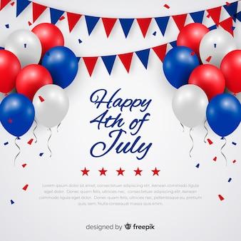 Vierde juli feestelijke achtergrond
