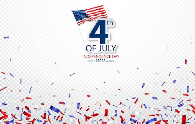 Vierde juli independence day of usa celebration