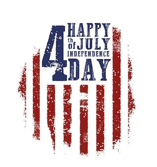 Vierde juli onafhankelijkheidsdag. gelukkige onafhankelijkheidsdag.