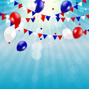 Vierde juli, onafhankelijkheidsdag van de verenigde staten