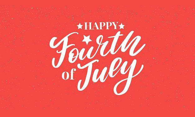 Vierde juli stijlvolle amerikaanse onafhankelijkheidsdag ontwerp