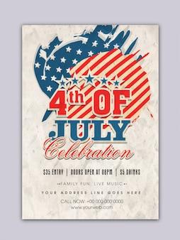Vierde van de vintage poster van juli poster