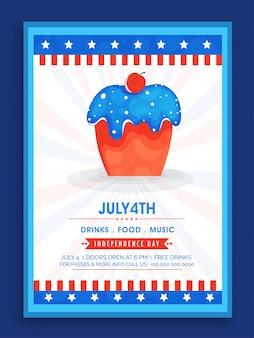 Vierde van juli poster ontwerp