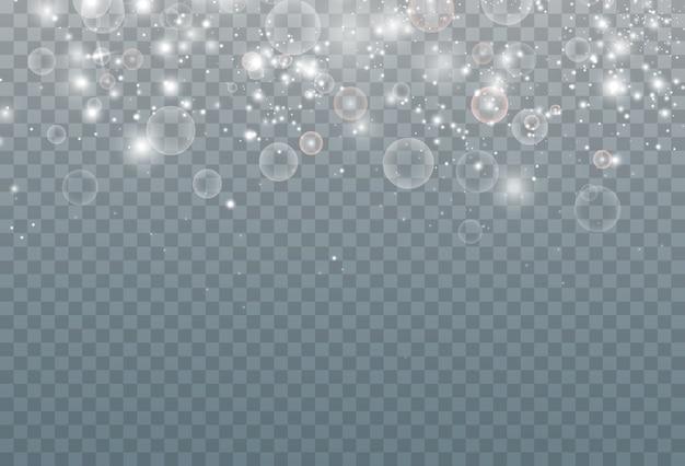 Viering abstracte achtergrond van kleine sprankelende stofdeeltjes en sterren