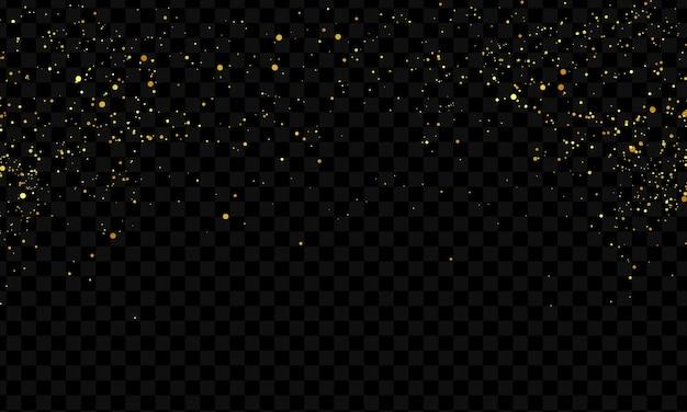 Viering achtergrond sjabloon met confetti gouden linten. luxe rijke wenskaart.