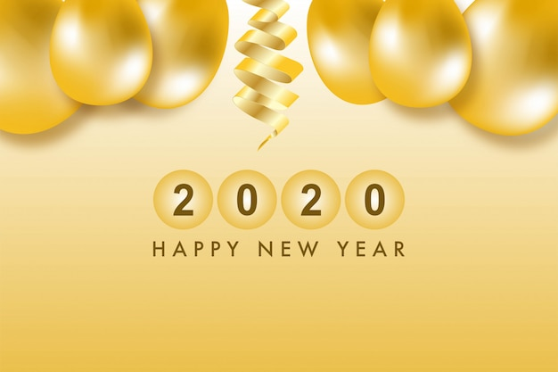 Viering gelukkig nieuwjaar 2020 vector achtergrond.
