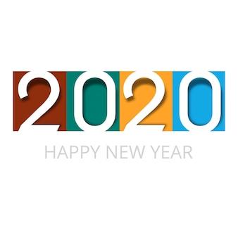 Viering kaart 2020 gelukkig nieuwjaar