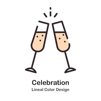 Viering lineal colour illustratie