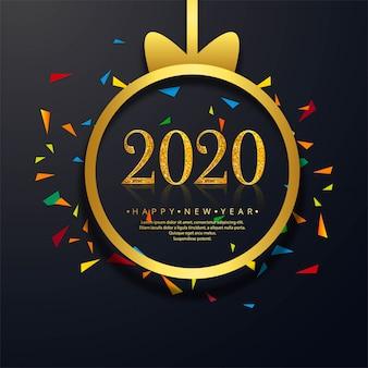 Viering nieuwjaar 2020 wenskaart met creatieve tekst