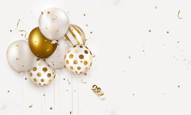 Viering ontwerp met ballonnen.