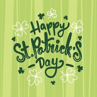 Viering st. patrick's day belettering