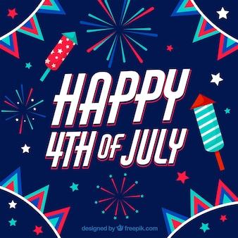 Viering van de amerikaanse onafhankelijkheidsdag