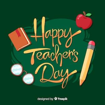 Viering van de dag van de wereldleraar