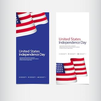 Viering van de onafhankelijkheid van de verenigde staten