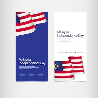 Viering van de onafhankelijkheidsdag van maleisië