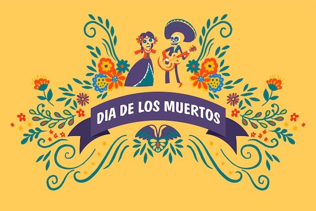 Viering van dia de los muertos, mexicaanse feestdag van de doden