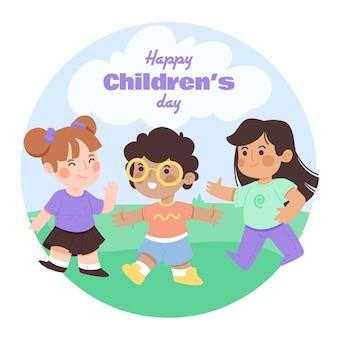 Viering van het evenement van de dag van de wereldkinderen