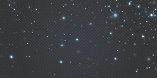 Vierings abstracte achtergrond van licht en zilver glinsterende stofdeeltjes en sterren