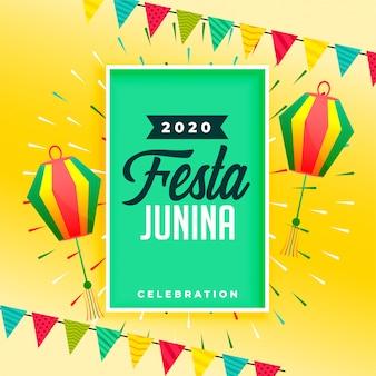 Vieringsachtergrond voor festa junina-festivalontwerp