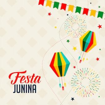 Vieringsachtergrond voor festa junina-vakantiefestival