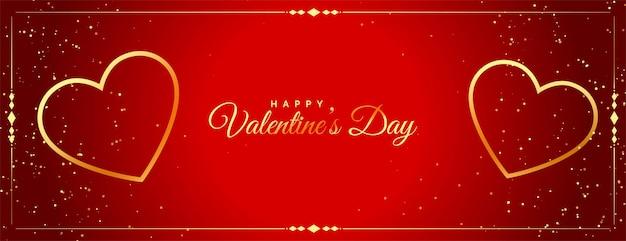 Vieringsbanner voor valentijnsdagontwerp