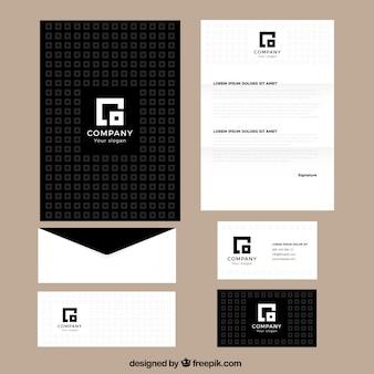 Vierkant busines briefpapier