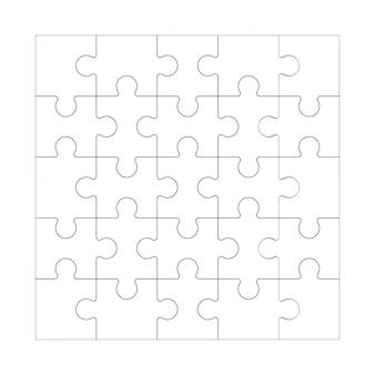 Vierkant doolhof rastersjabloon legpuzzel 25 stukjes denkspel en 5x5 puzzels detail frameontwerp