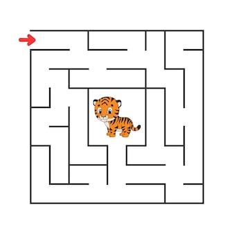 Vierkant doolhof. spel voor kinderen