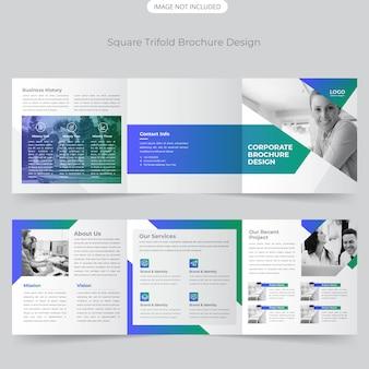 Vierkant driebladig brochureontwerp