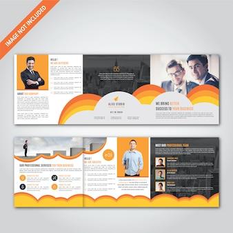 Vierkant drievoudige brochure