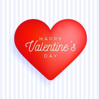 Vierkant flyer happy valentine day groetbanner met felicitatieteken