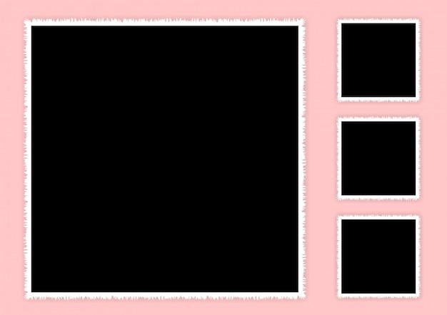 Vierkant fotolijstje ingesteld voor collage