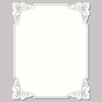 Vierkant frame in kalligrafische retro-stijl