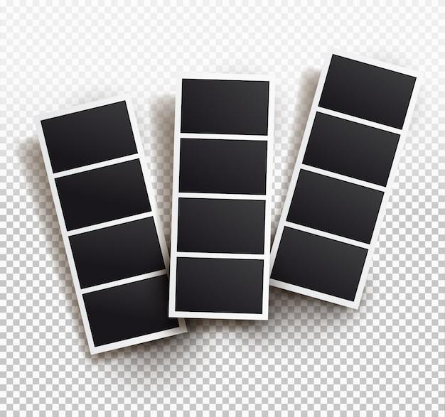 Vierkant frame sjabloon met schaduwen, sjablonen.