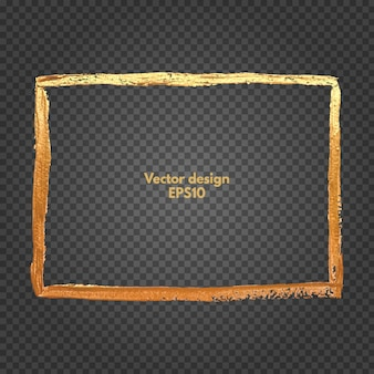 Vierkant gouden frame