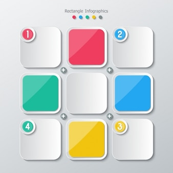 Vierkant kleuren en grijs