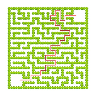 Vierkant labyrint van tuinstruiken