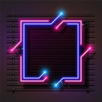 Vierkant licht neon banner