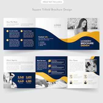 Vierkant trifold brochure